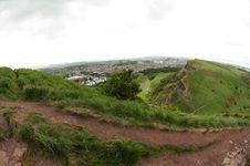 View From Arthur S Seat, Edinburgh Stock Photography