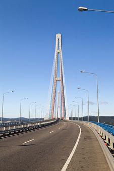 Free Big Suspension Bridge Royalty Free Stock Images - 33329509