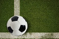 Free Soccer Ball On Green Field Stock Photos - 33332783