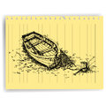 Free Sketch Drawing Boat  On Lined  Paper Page Vector Royalty Free Stock Photography - 33335937