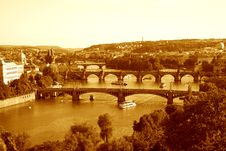 Free Bridges In Prague Royalty Free Stock Photography - 33332667