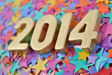 Free 2014 Year Golden Figures Stock Images - 33333914