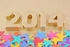 Free 2014 Year Golden Figures Stock Photography - 33333922