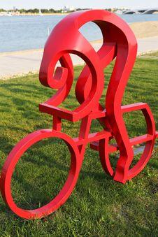 Sculpture ------ Cycling Royalty Free Stock Photos