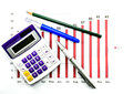Free Bar Graph Data And Calculator Stock Photo - 33342210