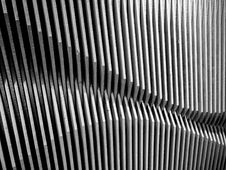 Wave Pattern Wood  Wall Royalty Free Stock Images