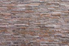 Sand Stone Brick Wall Texture Royalty Free Stock Image