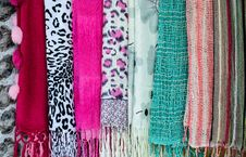 Free Collection Of Beautiful Colorful Scarves Royalty Free Stock Images - 33343019