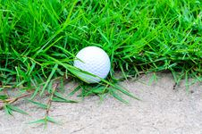 Free Golf Ball Out Off Fairway Stock Images - 33344414