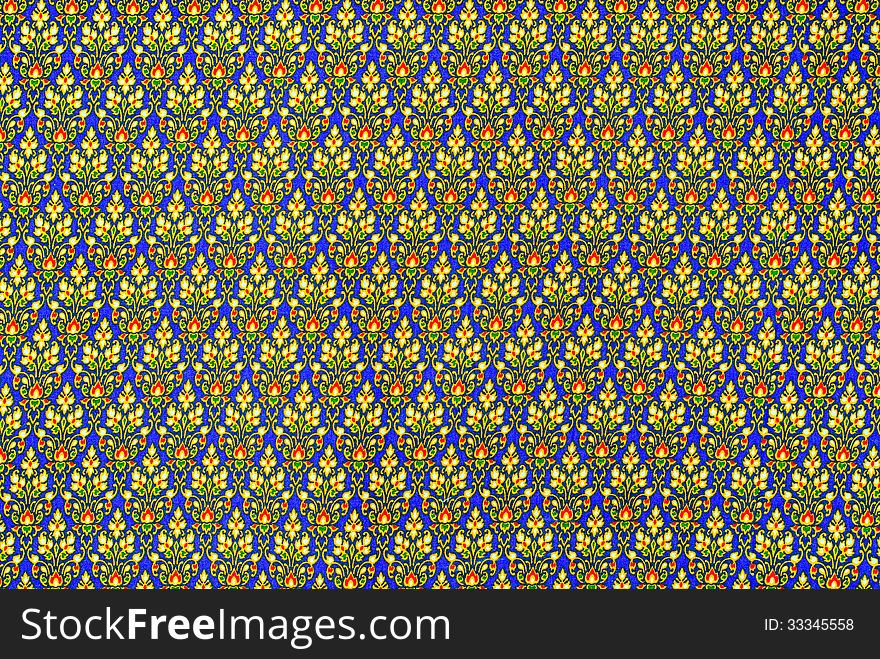 Colorful batik cloth fabric in thai style