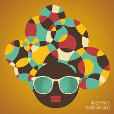 Free Black Head Woman With Strange Hair. Royalty Free Stock Photos - 33350218