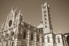 The Cathedral Of Siena - Tuscany Royalty Free Stock Image