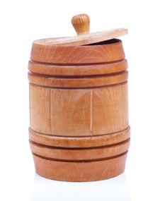 Wooden Barrel Of Honey Stock Photography