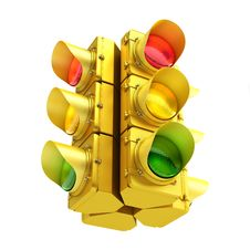 Free Yellow Traffic Light Stock Photography - 33361472