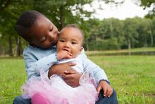 Free Brother And Sister Love Royalty Free Stock Image - 33361646