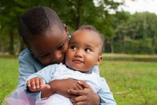 Free Hugging With My African Sister Stock Photo - 33361670