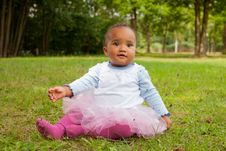 Free Sweet Little African Girl Stock Images - 33361704