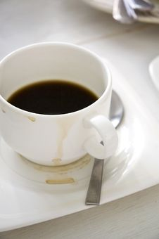 Free Stain On Coffee Cup Royalty Free Stock Photos - 33363068