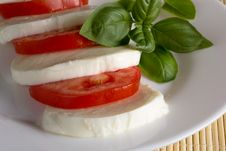 Free Mozzarella Tomato Basil Royalty Free Stock Image - 33366196