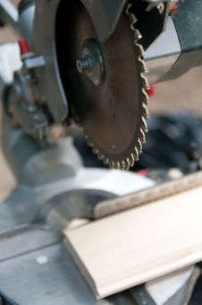 Machine Tool For Cutting Wood Royalty Free Stock Photo