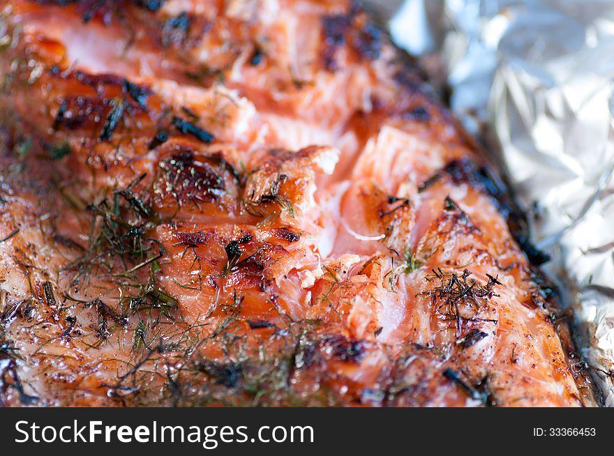 Fish fillet of salmon