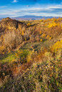 Free Valley And Far Away Mountain Range In Autumn. Horizontal Stock Images - 33377664