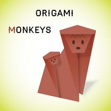 Free Monkeys Origami Royalty Free Stock Photo - 33370685