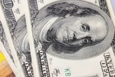 Free Close Up Of Dollar Bill Royalty Free Stock Photo - 33370775