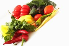 Free Vegetables On The White Background Stock Photos - 33370953
