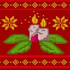 Free Candles Seamless Knit Pattern Royalty Free Stock Photography - 33374467
