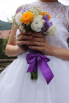 Free Bridal Bouquet Stock Image - 33386171