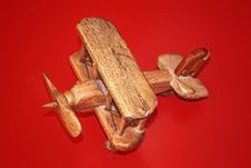 Free Wooden Toy Plane Royalty Free Stock Image - 33399116