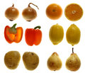 Free Two Halves Of Veg And Fruits Stock Image - 3344451