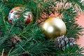 Free Christmas Decoration-pine Tree Stock Photography - 3344832
