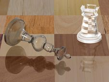 Free Glass Chess Pieces Royalty Free Stock Image - 3340066