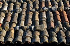 Free Old Roof Tiles Royalty Free Stock Photos - 3342748