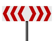 Free Red And White Direction Sign 2 Stock Image - 3342921
