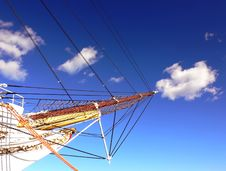 Bow Of The Sailing Ship Stock Photography