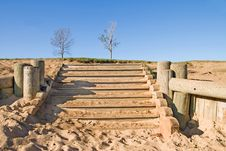 Free Stairway In Sand Stock Photography - 3344442
