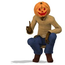 Free Mister Pumpkin 05 Royalty Free Stock Photos - 3344958