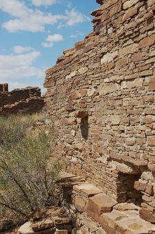 Free Anasazi Ruins, Chaco Canyon Royalty Free Stock Image - 3344976