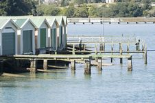 Free Boat Sheds On The Water Front Royalty Free Stock Photo - 3345005