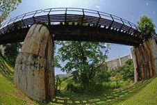 Deserted Railway Bridge Stock Photo