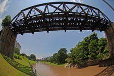 Deserted Railway Bridge Stock Photos