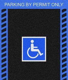 Handicap Parking Space Stock Image