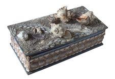 Free Old Small Box From Marine Shells Royalty Free Stock Photos - 3347108