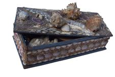 Free Old Small Box From Marine Shells Royalty Free Stock Photography - 3347177