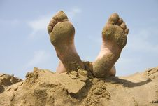 Free Human Foots Relaxing Stock Image - 3347551