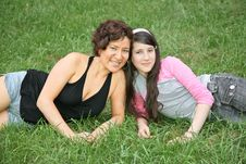 Mother And Daughter-teenager Stock Photography