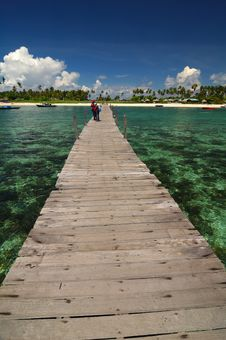 Free Wooden Jetty Stock Image - 3348291
